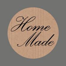 Etiket / Sticker  kraft Home Made 500 stuks