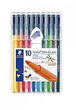 Kleurstift Staedtler 323 Triplus color à 10 stuks assorti