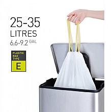 Afvalzak EKO met  trekband 25-35 liter type E wit