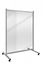 Scheidingswand + transparant board Legamaster Economy 180x120cm transparant 4mm