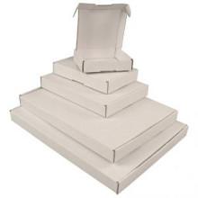 Brievenbusdoos met klep 180x115x28 mm wit per stuk
