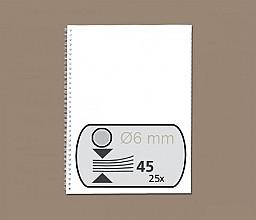 Draadrug GBC 6mm 34-rings A4 zilver 25stuks
