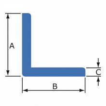L-profiel nomapack blauw 75x75x2000mm 105 stuks