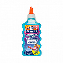 Kinderlijm Elmer's glitter 177ml blauw