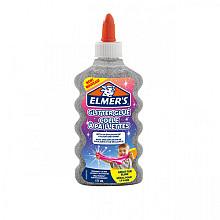 Kinderlijm Elmer's glitter 177ml zilver