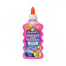 Kinderlijm Elmer's glitter 177ml roze