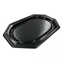 Party - cateringschaal 8-hoek zwart 45cm 10 stuks