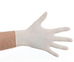 Handschoen latex en poedervrij WIT 100 stuks  Large
