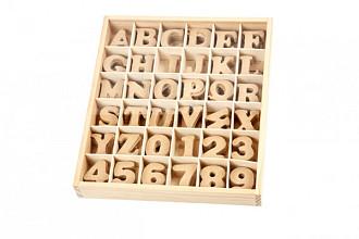Letters & cijfers Creotime hout 4cm assorti