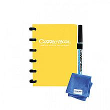 Notitieboek Correctbook A6 lijn 40blz geel