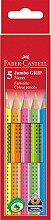 Kleurpotloden Faber Castell Jumbo Grip set à 5 stuks assorti