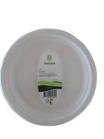 Biodore® Bord van Suikerrietpulp rond 230mm 1-vaks wit 50 stuks