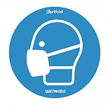 Sticker Tarifold mondmasker verplicht rond Ø25cm
