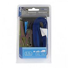 Spanband ProPlus blauw met ratel en 2 haken 3,5m