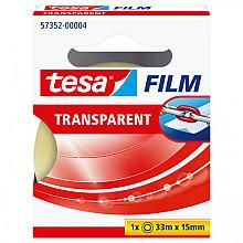Plakband Tesa film 15mmx33m transparant doosje