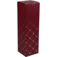 Wijnflesdoos 1 fles 9.5x9.5x33cm karton bordeaux-goud 10 stuks