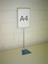 Prijskaartraam A4 verstelbaar transparant compleet