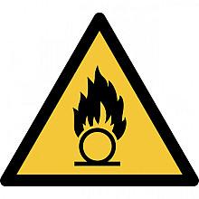 Pictogram Tarifold waarschuwing oxiderende stoffen 200x176mm