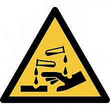 Pictogram Tarifold waarschuwing bijtende stoffen 200x176mm