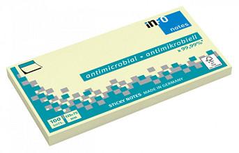 Memoblok Info Notes antimicrobiëel 125x75mm geel