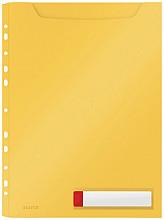 Insteekmap U-model Leitz Cosy harmonica A4 met perforatiestrip PP geel