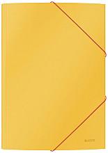 Elastomap Leitz Cosy A4 3-kleps geel