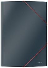 Elastomap Leitz Cosy A4 3-kleps grijs