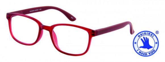 Leesbril +1.00 regenboog donkerrood
