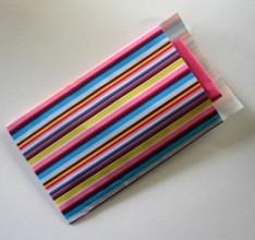 Cadeauzakjes 17x25cm 250 stuks gestreepte kleuren 3018