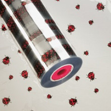 Folie rol opp25mu 60cm x 500mtr  lieveheersbeestjes