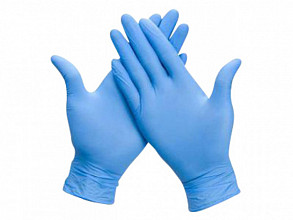 Handschoen Comfort nitril L blauw 100 stuks