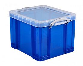 Opbergbox Really Useful 35 liter 480x390x310 mm transparant blauw
