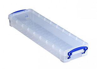 Opbergbox Really Useful 0.8 liter 355x100x40 mm transparant wit