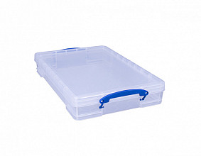 Opbergbox Really Useful 10 liter 520x340x85 mm transparant wit