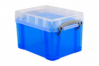 Opbergbox Really Useful 3 liter 245x180x160 mm transparant blauw