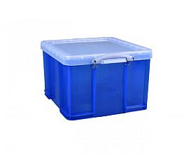Opbergbox Really Useful 42 liter 520x440x310 mm transparant blauw