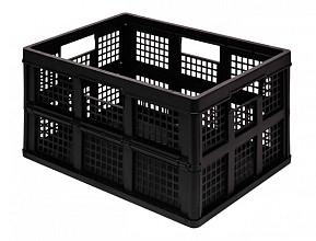 Opbergkrat Really Useful 45 liter 570x390x285 mm opvouwbaar zwart