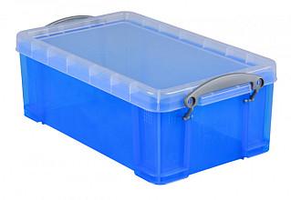 Opbergbox Really Useful 5 liter 340x200x125 mm transparant blauw