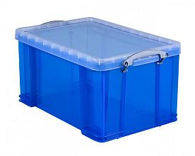 Opbergbox Really Useful 48 liter 600x400x315 mm transparant blauw