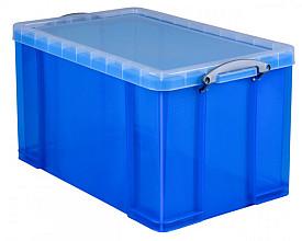 Opbergbox Really Useful 84 liter 710x440x380 mm transparant blauw