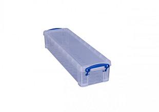 Opbergbox Really Useful 1.5 liter 355x100x70 mm transparant wit