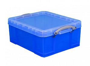 Opbergbox Really Useful 18 liter 480x390x200 mm transparant blauw