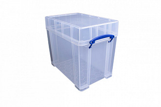 Opbergbox Really Useful 19 liter 395x255x330 mm transparant wit