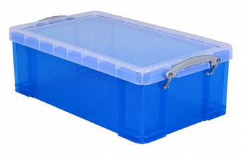 Opbergbox Really Useful 12 liter 465x270x150 mm transparant blauw