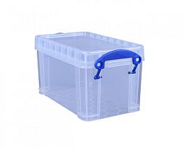 Opbergbox Really Useful 2.1 liter 240x130x125 mm transparant wit