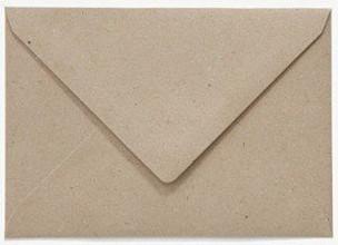 Envelop Papicolor EA5 156x220mm recycled fluting kraft grijs