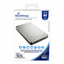 Harddisk MediaRange USB 3.0 externe HDD 2TB zilver