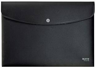 Enveloptas Leitz Recycle A4 met drukknopen PP zwart