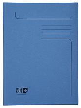 Dossiermap Exacompta Clean'Safe 2kleppen blauw