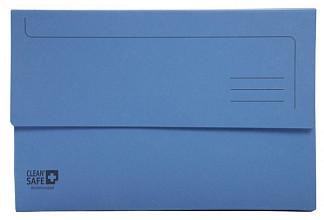 Pocketmap Exacompta Clean'Safe A4 400gr blauw